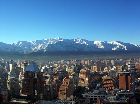 2santiago chile skyline andes11 COUNTRY PROFILE: The Secret Behind Chiles Thriving Outsourcing Industry