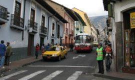 A street view of Quito, Ecuador.