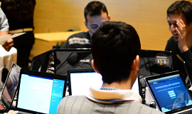 Hackers at a recent hackathon in Argentina organized by Belatrix Software.