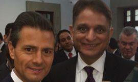 Anurag Kumar with President Pena Nieto.