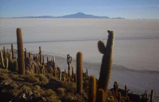 The Bolivian salt flats offer unforgettable surrealist scenery.