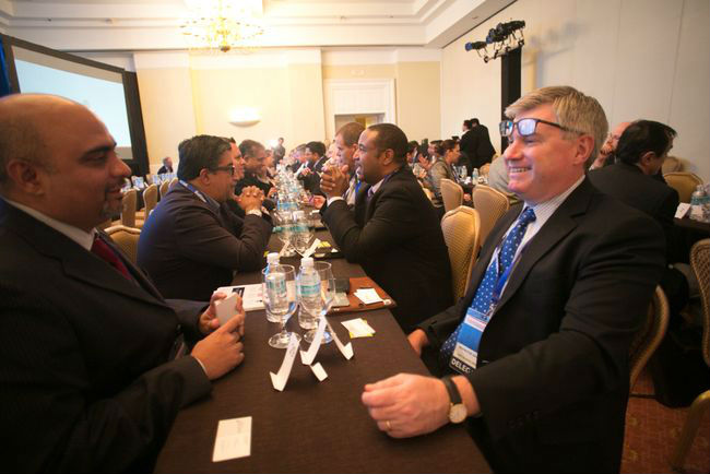 The 125 buyers and service providers were paired up in speed-networking sessions.