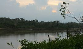 Sunset over the Tambopata river en route to the Comunidad del Infierno.
