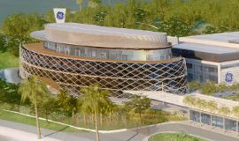 An artistic impression of GE's R&D center in Brazil