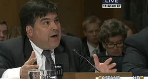Francisco Palmieri testified before the Senate Homeland Security Committee in Washington DC in the wake of last summer's Central American migration 'crisis'.