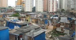 A view of a slum settlement in Sao Paulo, Brazil