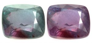 Alexandrite changes color depending on the light.