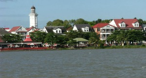 A view of Paramaribo, the capital of Suriname.