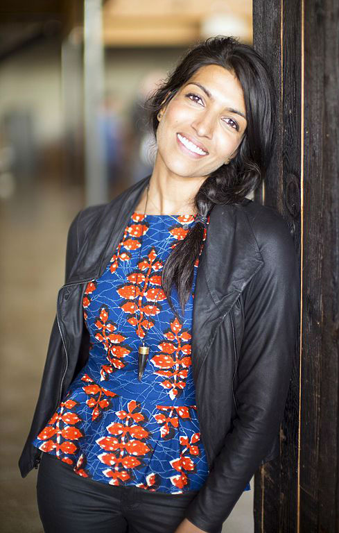 American non-profit entrepreneur Leila Janah, CEO and founder of Samasource social business. Photo by Christopher Michel.