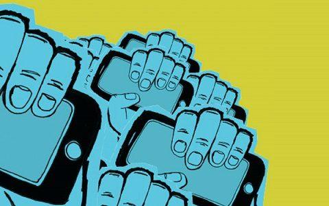 tech stands up